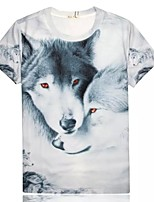 Women's High Quality Personality Generous Summer Breathable 3D Style T-shirt——Ice The Wolf