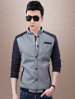 Men's Casual/Work/Sport Long Sleeve Regular Jacket (Cotton/Cotton Blend) knit jackets fashion leisure sports