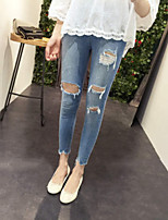 Women's Blue Denim Pant , Vintage Sleeveless