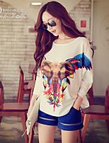 Pink Doll®Women's Casual/Cute/Print Loose Batwing Sleeve T-shirt