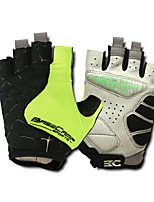 Basecamp® Cycling Gloves Fingerless Silica GeL Lycra Soft Mat Short Ride Bycicle Semi-finger Gloves Green BC-202