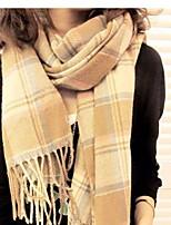 Lady  Warm Cashmere Super Long Plaid Scarves Shawls