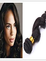 3Pcs/Lot #1B Unprocessed Virgin Brazilian Loose Wave Human Hair Weave Bundles