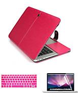 роскошные кожаные 3 в 1 полный случаях тела с клавиатуры FLIM и протектор экрана HD для MacBook Air 13.3