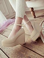 Women's Shoes  Wedge Heel Wedges Pumps/Heels Office & Career/Dress Blue/Pink/Beige