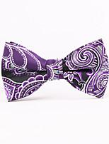 Purple Pattern Men Bow Ties