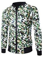 Men's Casual Print Long Sleeve Regular Jacket (Sheepskin)