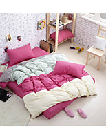 Pink Poly/Cotton King Duvet Cover Sets