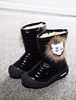 Girls' Shoes Outdoor/Dress/Casual Round Toe/Closed Toe Patent Boots Black/White/Coral