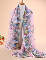 HOT sale Women's fashion new flowers leopard print 30D chiffon scarves, scarves shawls