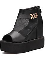 Women's Shoes Wedge Heel Peep Toe Sandals Outdoor Black