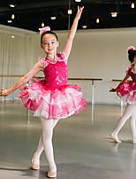 Kinderen - Ballet - Tutus&Rokken/Hoofddeksels ( Diep Roze , Nylon/elastan/Lovertjes/Tule , Bloem (en)/Ruches/Roesjes/Pailletten )