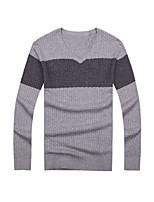 Herren Freizeit Pullover Normal Lang Baumwolle