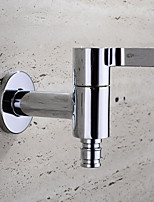 HPB Contemporary Chrome Finish Brass Bibcock Single Cold Wall Washing Machine Taps