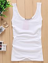 Women's Blue/Red/White/Black/Yellow/Gray T-shirt Sleeveless