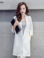 SEXY TOY® Women's Casual/Work Medium ¾ Sleeve Long Blazer (Cotton)