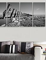 e-Home® sträckta canvas konst trä dekoration målning uppsättning 4