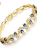 OPK®AAA Zircon Ms Vacuum Plating 18 K Gold High-grade Bracelet