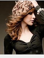 Women fashion Leopard Grain Buds Cap