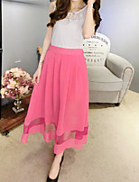 Women's New Summer Solid Color Chiffon Skirts
