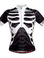 WOSAWE Men's Summer Jersey Bike Cycling Bicycle Quick Dry Top Skeleton Breathable full length zipper Short Sleeve Shirt