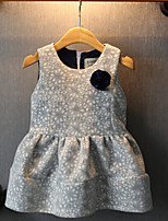 OBZ Girl's Embossed Wool Vest Dress Princess