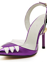 Women's Shoes Leather Stiletto Heel Slingback Pointed Toe Pumps Party More Colors available