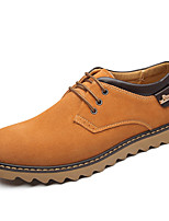 Men's Shoes Outdoor/Office & Career Leather Oxfords Blue/Brown/Orange