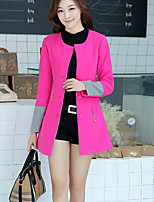 Women's Casual/Work Thick Long Sleeve Long Coat