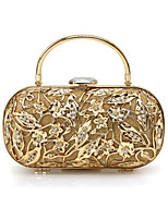 L.WEST Women's fashion Euramerican wind retro metal Wisp empty dinner package bag