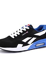 Hombre-Tacón Plano-Confort-Zapatillas de deporte-Exterior / Casual / Deporte-Ante / Tul-Negro / Azul / Rojo