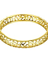 European Style Round Shape Hot Sales Copper Gold Plated Zircon Bangle For Womens(Gold)(1Pc)