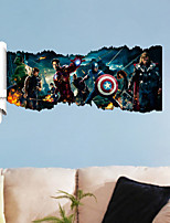 Wall Stickers Wall Decals, 3D The Avengers Heroes PVC Wall Sticker