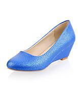 Women's Shoes Wedge Heel Wedges/Comfort/Pointed Toe/Closed Toe Pumps/Heels Office & Career/Dress Blue/Pink/Orange