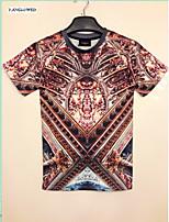 Men's Anime Church Art Graphic 3D Print Short Sleeve Crew T-Shirt Shirt Tops(M-XXL)