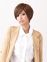 charmant cheveux humains perruques droite vierge haut remy mono cheveux courts perruque