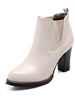 Women's Shoes Chunky Heel Fashion Boots/Round Toe Boots Dress Black/Brown/Beige/Burgundy