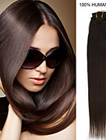 22inch 7pcs /set 80g Clip-in Hair Remy Human Hair Extensions 26 Colors for Women Beauty