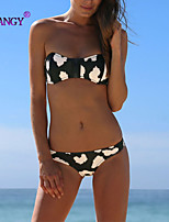 SYU®Women's Padded Bras/Underwire Bra Color Block/Floral/Solid/Geometric Halter Bikinis (Nylon/Spandex)