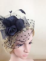 Women Fabric Hair Clip , Party / Casual Elegant Flower Veils Headpiece
