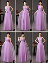 Mix & Match Dresses Floor-length Tulle 6 Styles Bridesmaid Dresses (3789797)