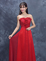 Formal Evening Dress Sheath/Column Strapless Floor-length Polyester