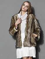 Women's Elegant Fur Parka Winter Fashion Fur Coat