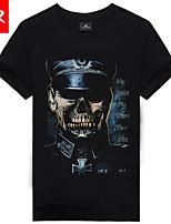 Men's Casual/Sport Print Short Sleeve Regular T-Shirt (Cotton Blend)