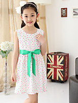 Girl's Summer Simple Floral Sleeveless Dresses (Cotton Blends)