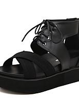 Women's Shoes  Wedge Heel Peep Toe Sandals Casual Black