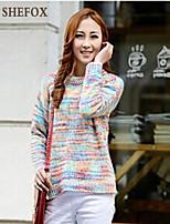 Women's Casual/Cute Micro-elastic Medium Long Sleeve Pullover (Knitwear) SF7B71