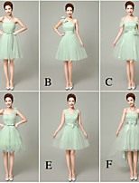 Mix & Match Dresses Short/Mini Tulle 6 Styles Bridesmaid Dresses (3998458)