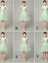 mezclar& vestidos de partido corto de mini de tul / vestidos de 6 estilos de dama de honor (3998458)