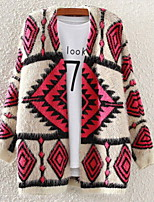 Fashion Women's Casual/Work Micro-elastic Thick Long Sleeve Cardigan (Wool Blends)